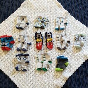 Other - Bundle of 12-24 mo. Boys Socks Mickey